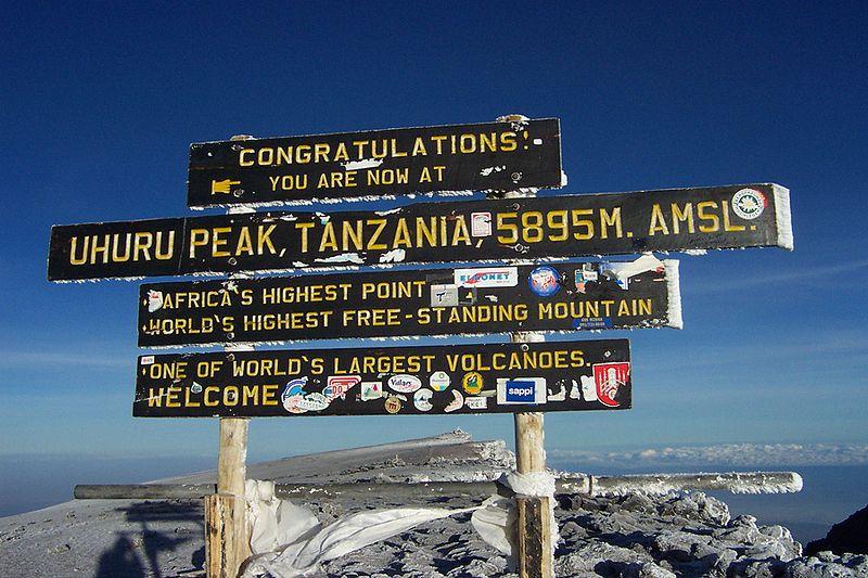 snön på kilimanjaro