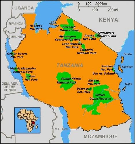 Tanzania Maps Map Of Tanzania Maps F Tanzania Map Of Arusha - Map of tanzania